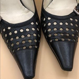 Prada Shoes - Prada Perforated Kitten Heels